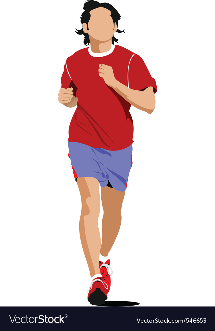 Runner vector | Price: 1 Credit (USD $1)