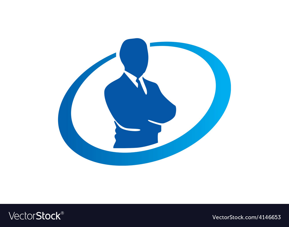 Success businessman abstract logo vector | Price: 1 Credit (USD $1)