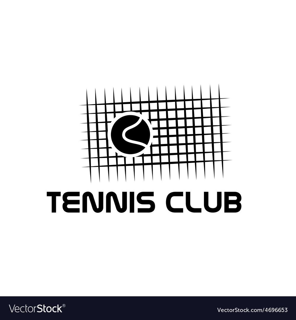 Tennis club vector | Price: 1 Credit (USD $1)