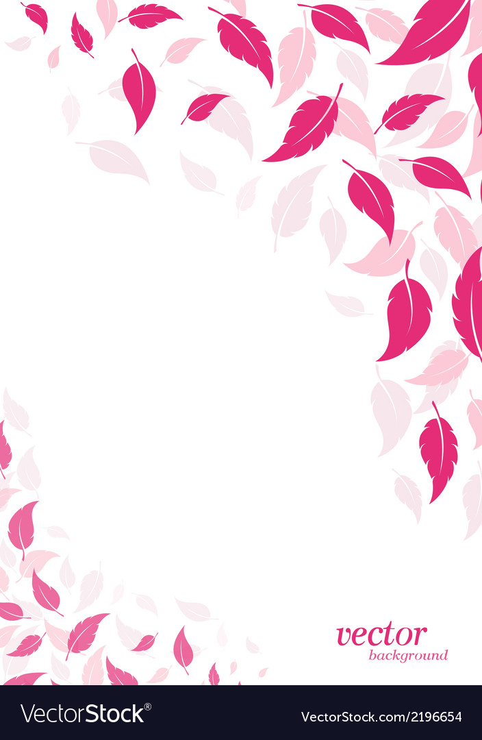 Abstract pink leaf background vector | Price: 1 Credit (USD $1)