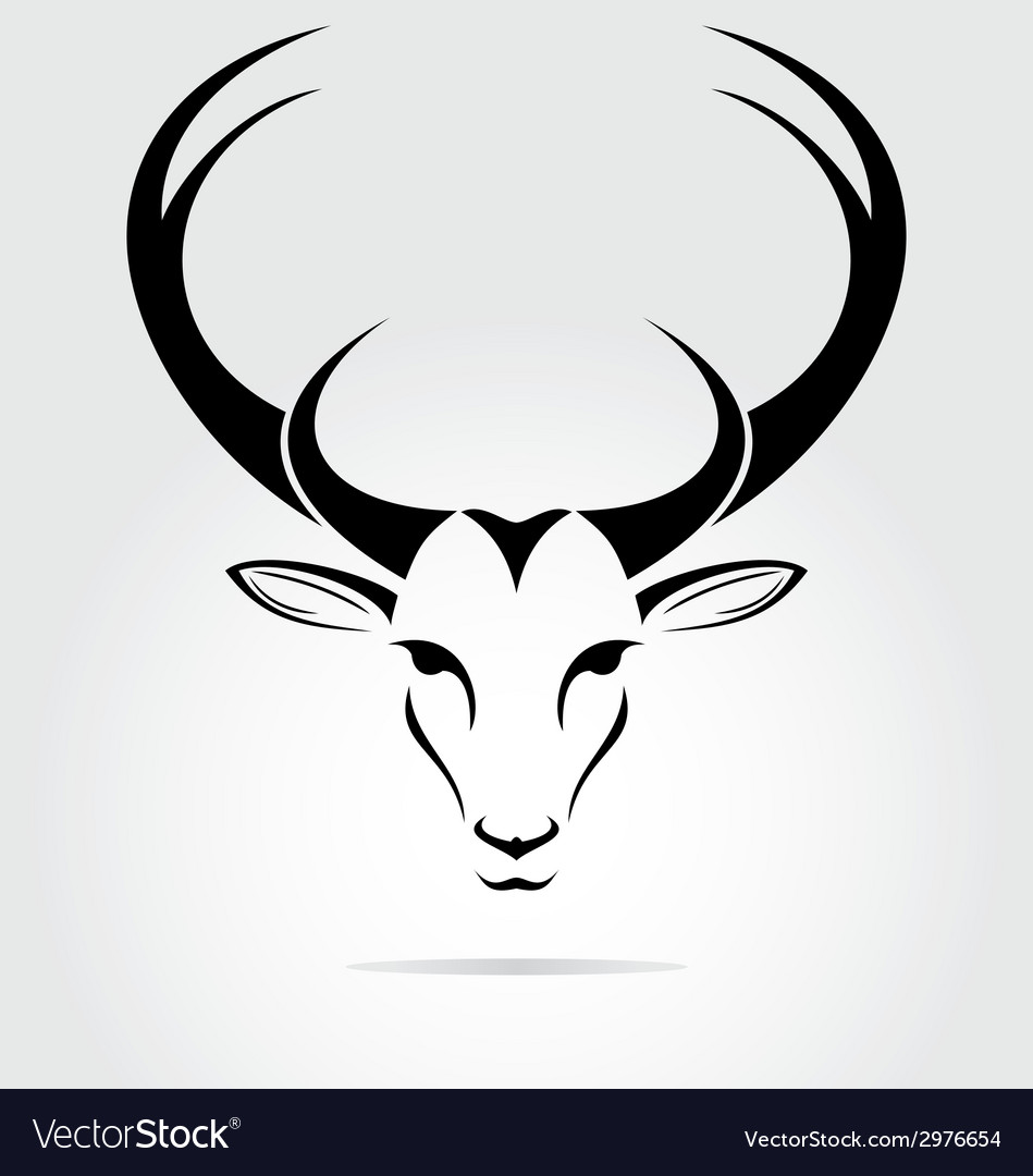 Deer head tribal vector | Price: 1 Credit (USD $1)