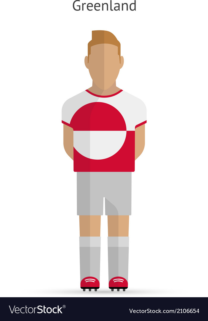 Greenland football player soccer uniform vector | Price: 1 Credit (USD $1)