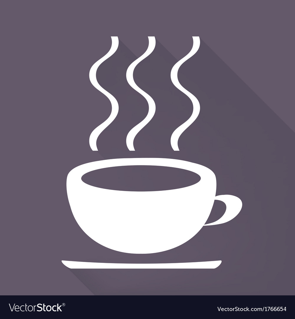 Hot drink web icon vector | Price: 1 Credit (USD $1)