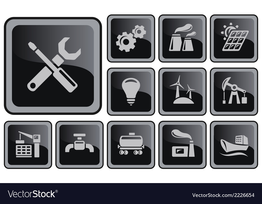 Industrial buttons vector | Price: 1 Credit (USD $1)