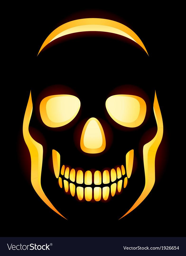 Jack o lantern skull vector | Price: 1 Credit (USD $1)