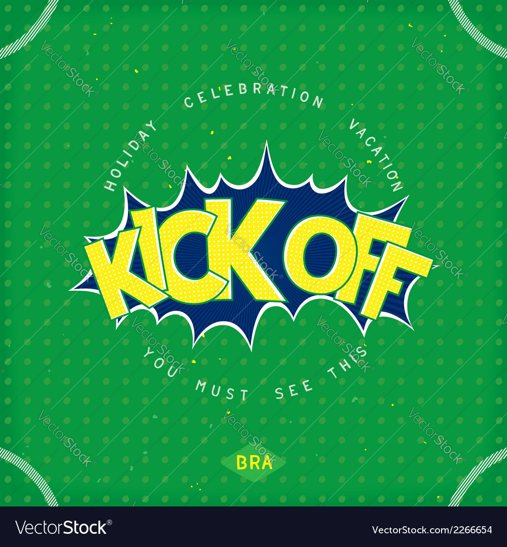 Kick off football vector | Price: 1 Credit (USD $1)