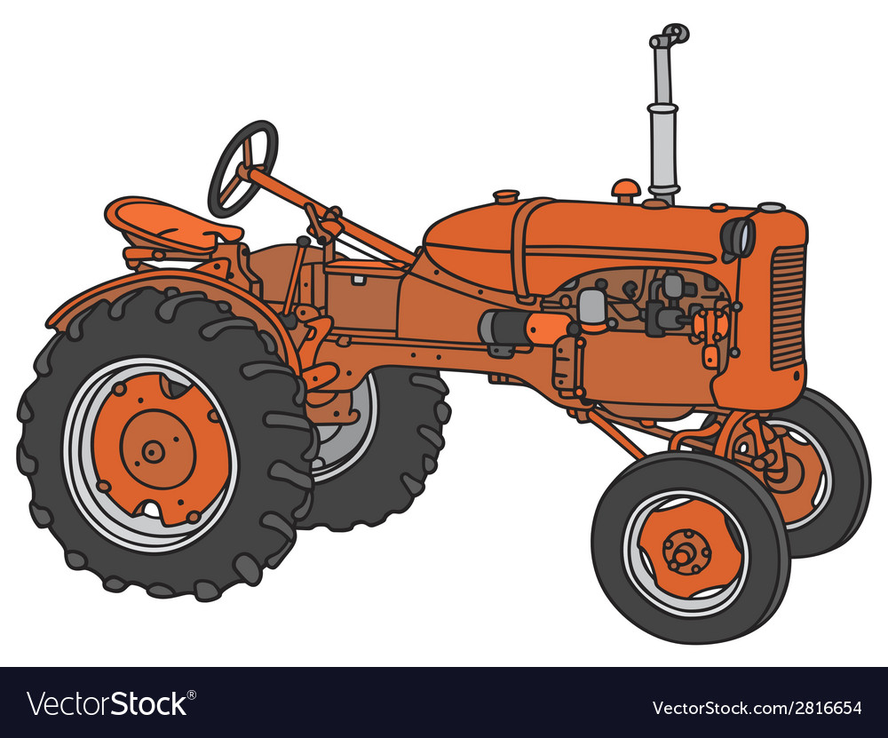 Old tractor vector | Price: 1 Credit (USD $1)