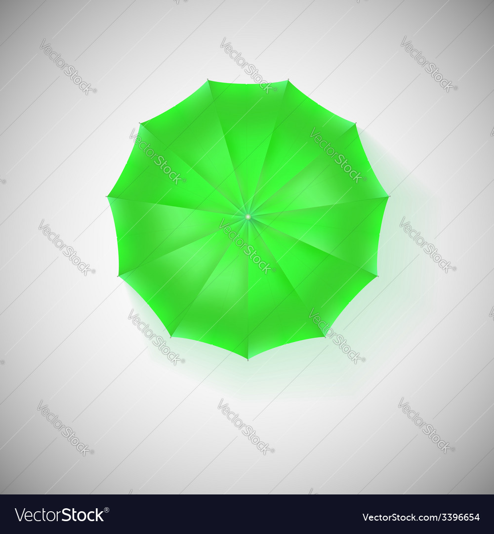 Opened green umbrella top view closeup vector | Price: 1 Credit (USD $1)