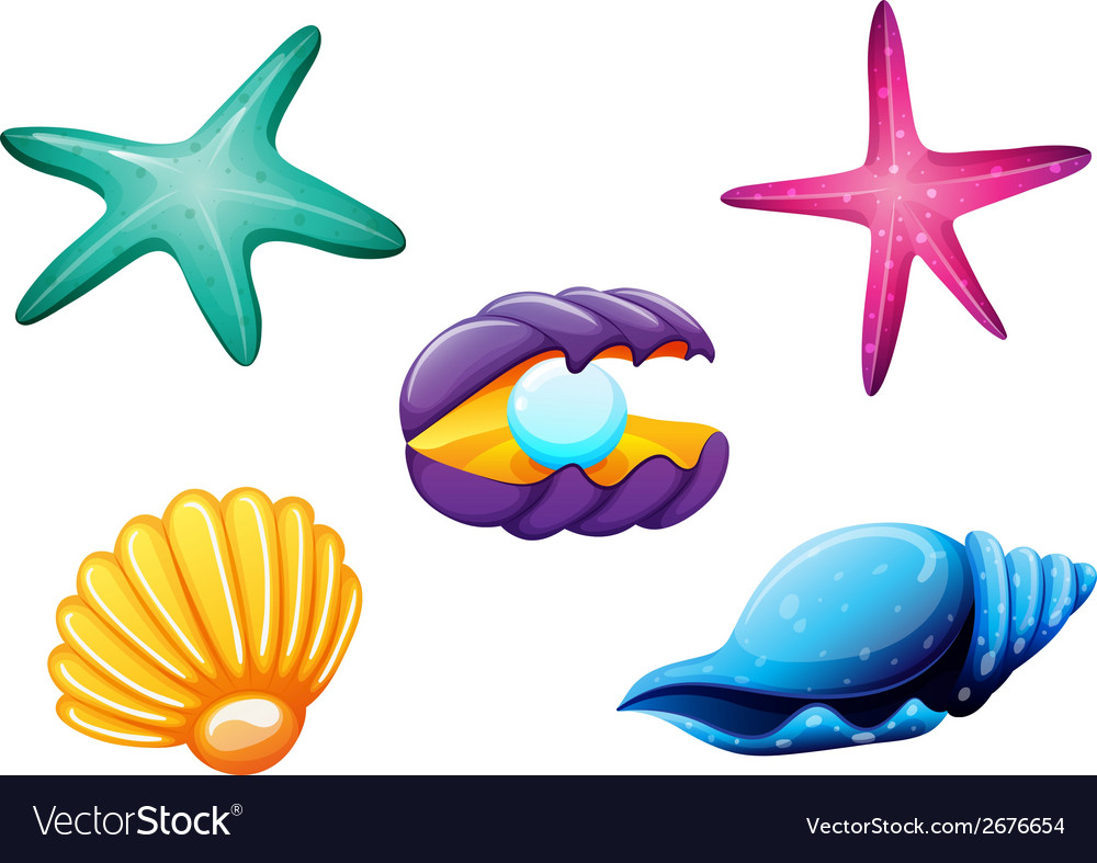 Sea creatures vector | Price: 1 Credit (USD $1)