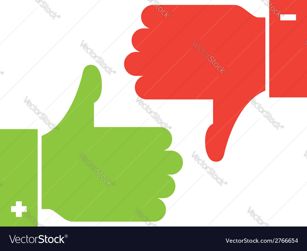 Thumb up and thumb down icons vector | Price: 1 Credit (USD $1)