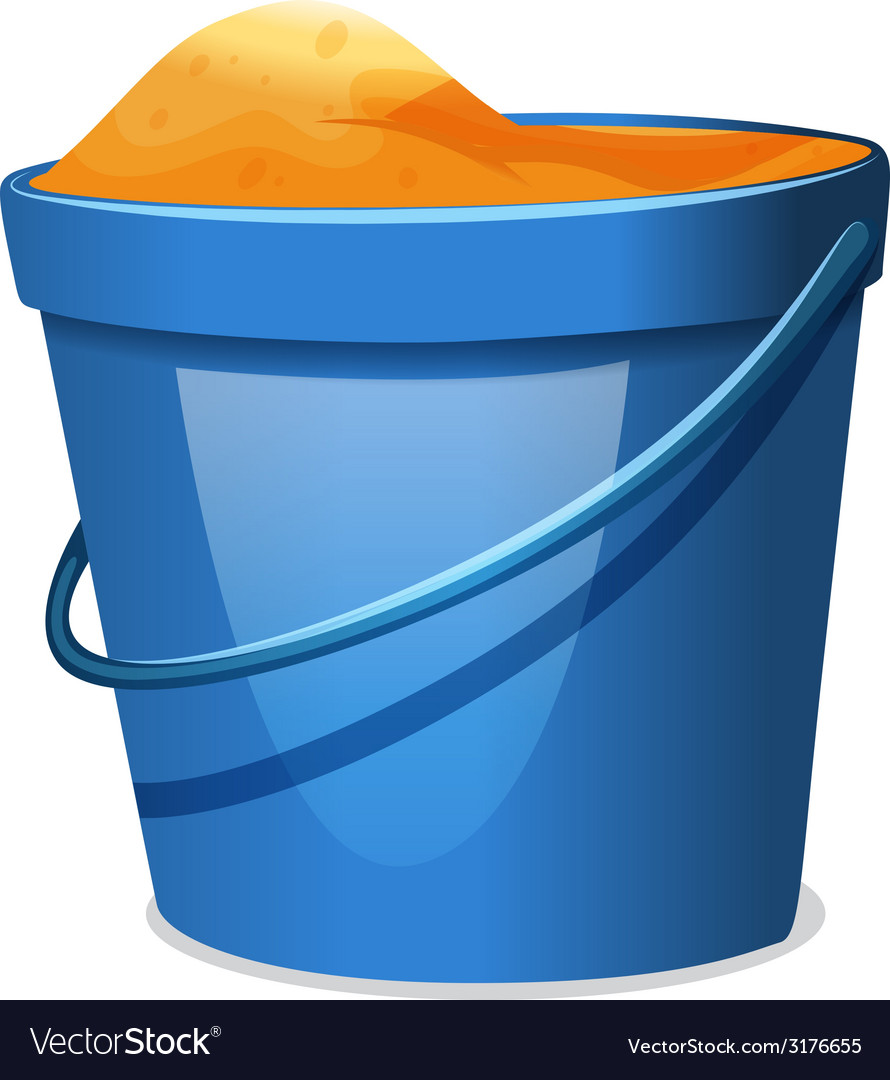 A blue pail with sand vector | Price: 1 Credit (USD $1)