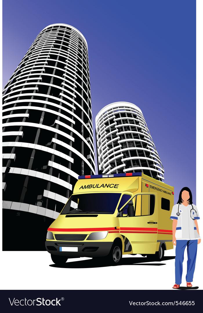 Ambulance vector | Price: 1 Credit (USD $1)