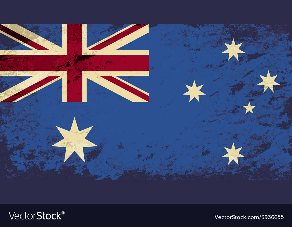 Australian flag grunge background vector | Price: 1 Credit (USD $1)