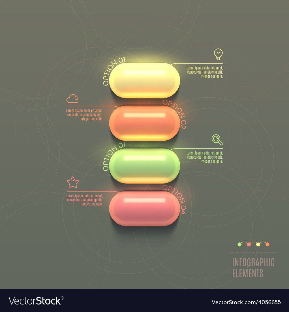 Business infographics capsule concept vector | Price: 1 Credit (USD $1)