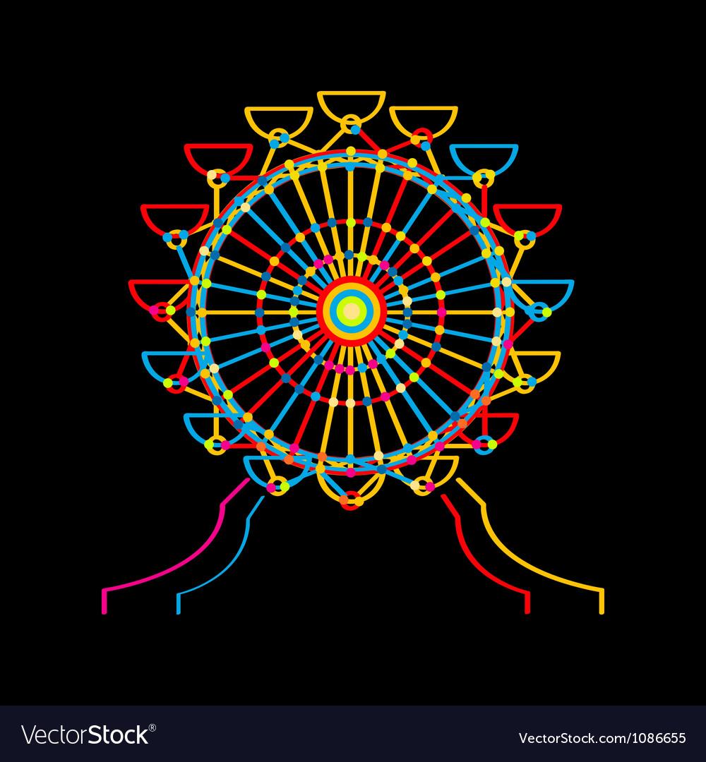 Ferris wheel icon vector | Price: 1 Credit (USD $1)