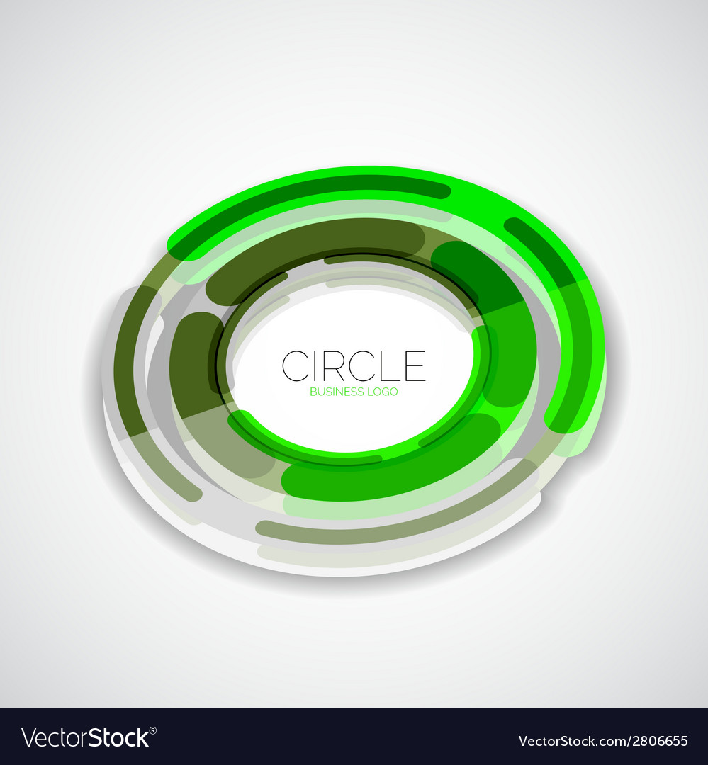 Futuristic rings company logo 3d design vector | Price: 1 Credit (USD $1)