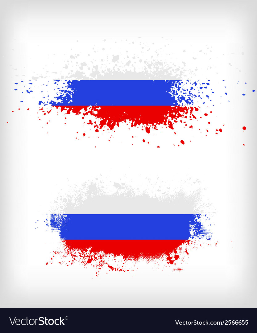 Grunge russian ink splattered flag vector | Price: 1 Credit (USD $1)