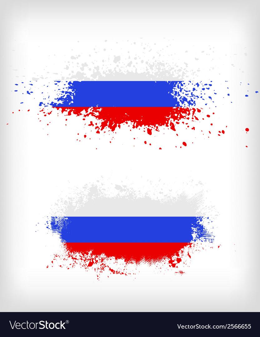 Grunge russian ink splattered flag vector | Price: 1 Credit (USD $1)