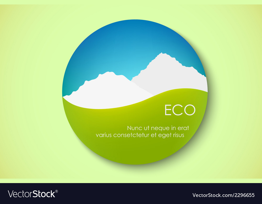 Icon of pure nature vector | Price: 1 Credit (USD $1)