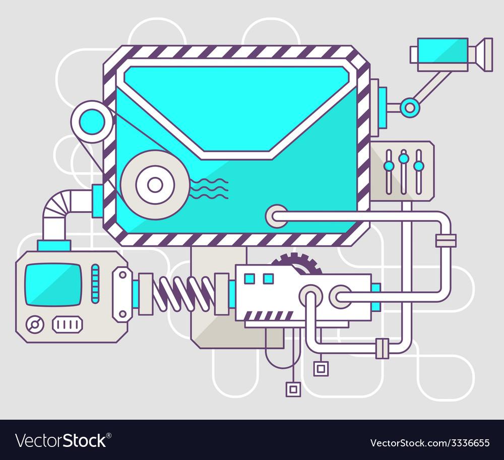 Industrial of the mechanism of envelope col vector | Price: 1 Credit (USD $1)