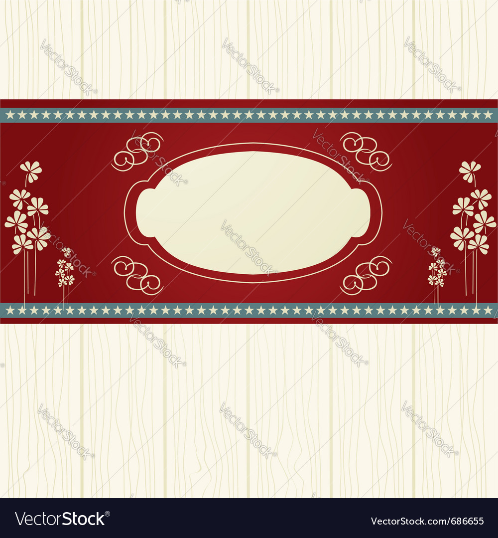 Invitation card with flower vector | Price: 1 Credit (USD $1)
