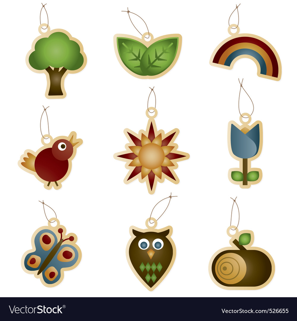 Nature tags vector | Price: 1 Credit (USD $1)