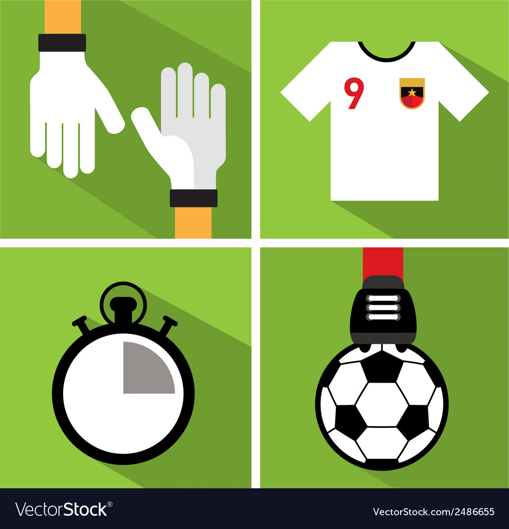 Soccer icon set iii vector | Price: 1 Credit (USD $1)
