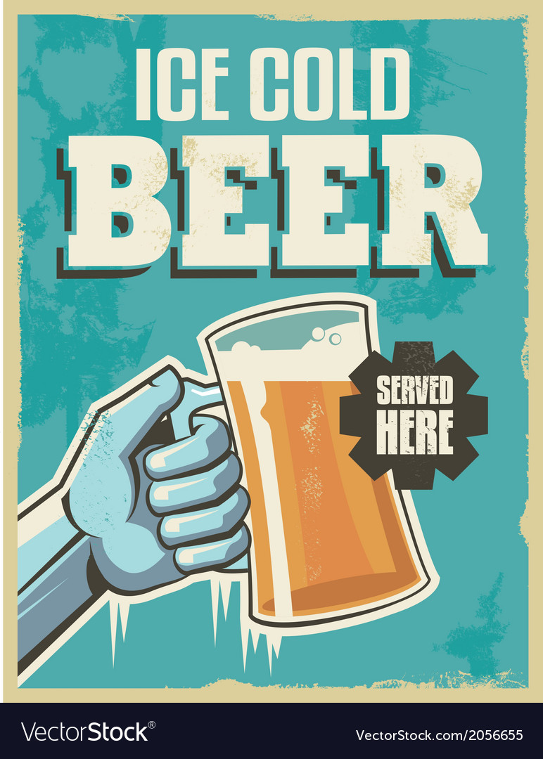 Vintage banner sign - retro beer poster vector | Price: 3 Credit (USD $3)