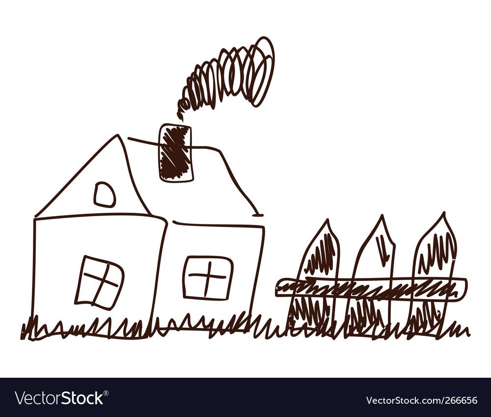 Children's drawing vector | Price: 1 Credit (USD $1)