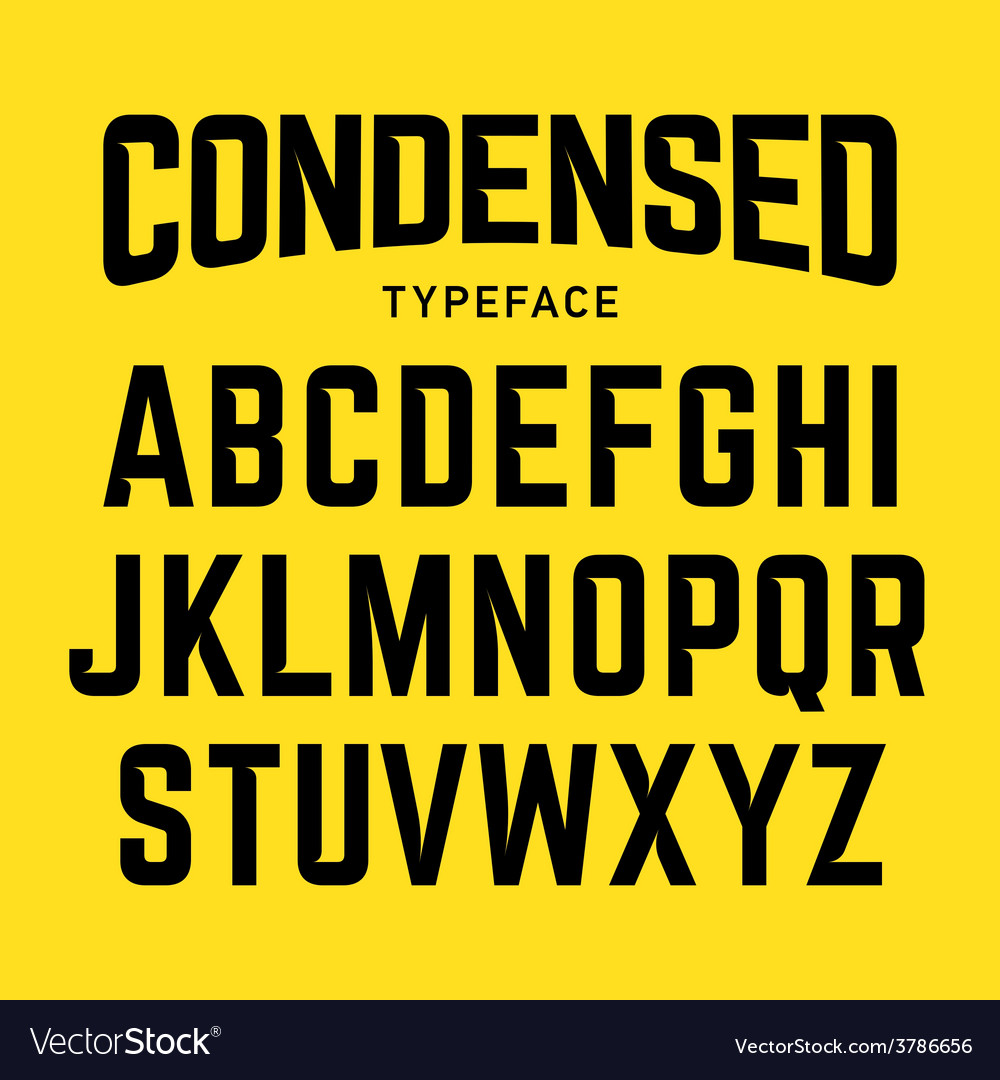 Condensed typeface vector | Price: 1 Credit (USD $1)