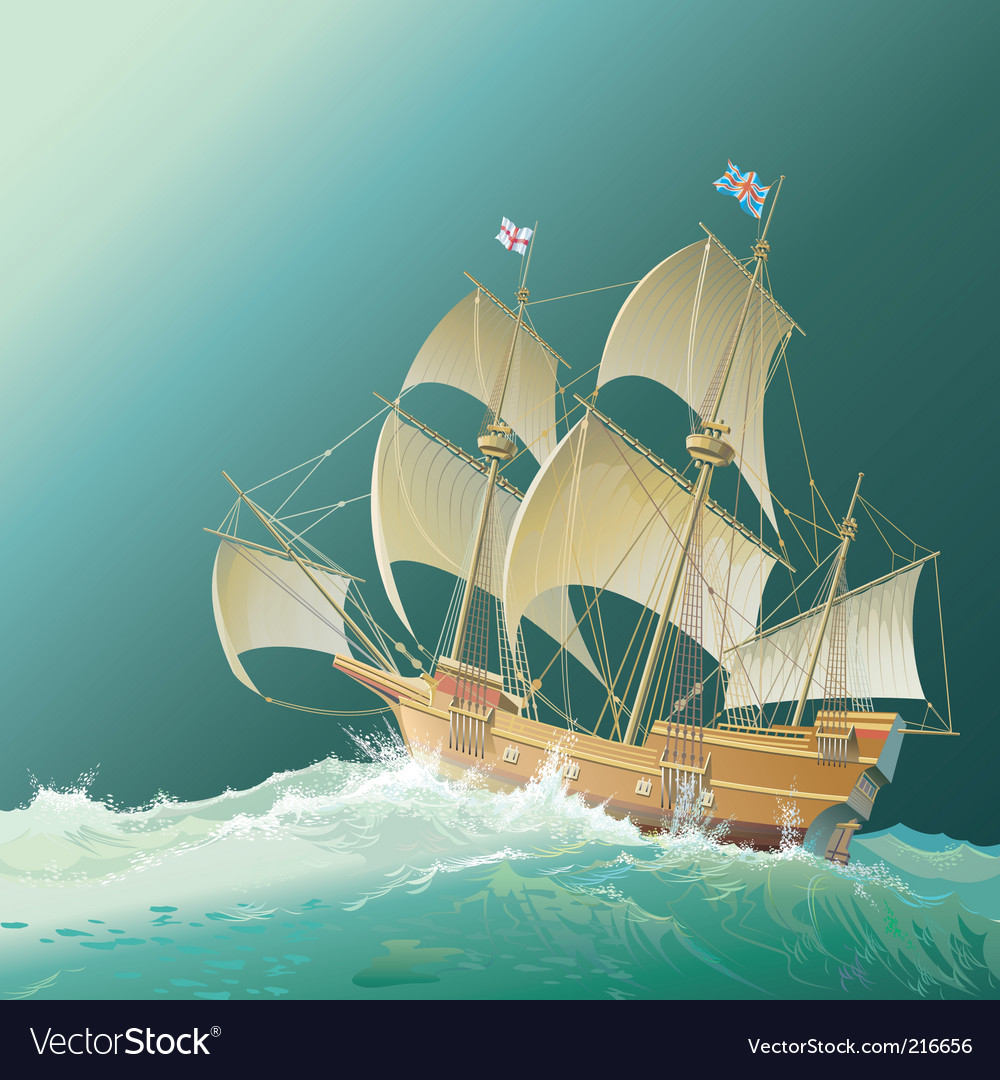 Galleon mayflower vector | Price: 5 Credit (USD $5)
