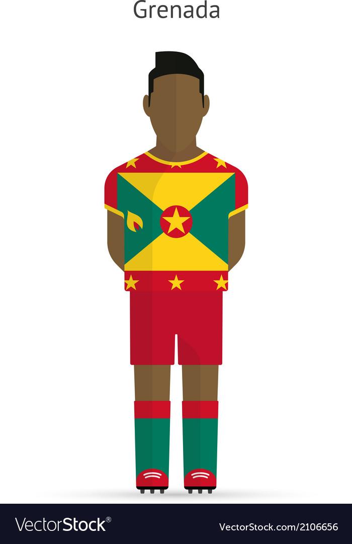 Grenada football player soccer uniform vector | Price: 1 Credit (USD $1)