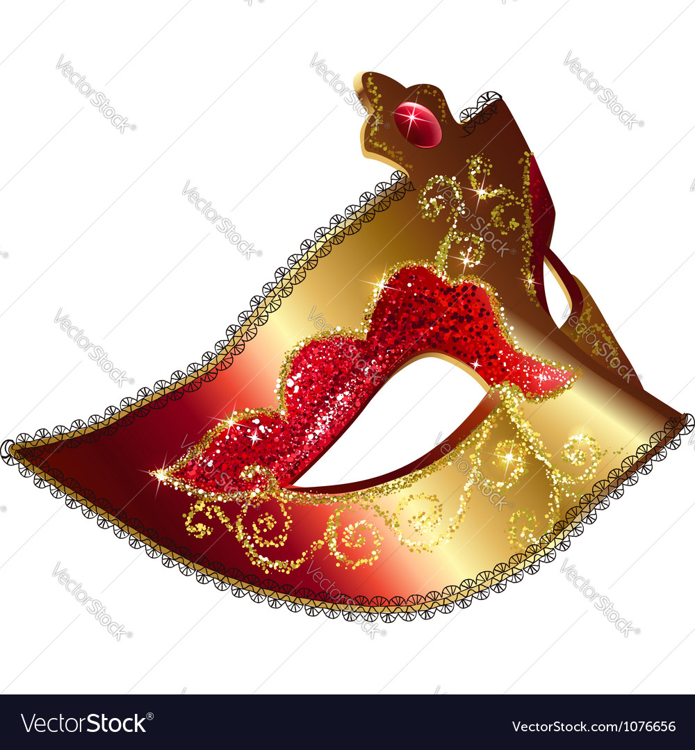 Isolated venician carnival mask vector | Price: 1 Credit (USD $1)