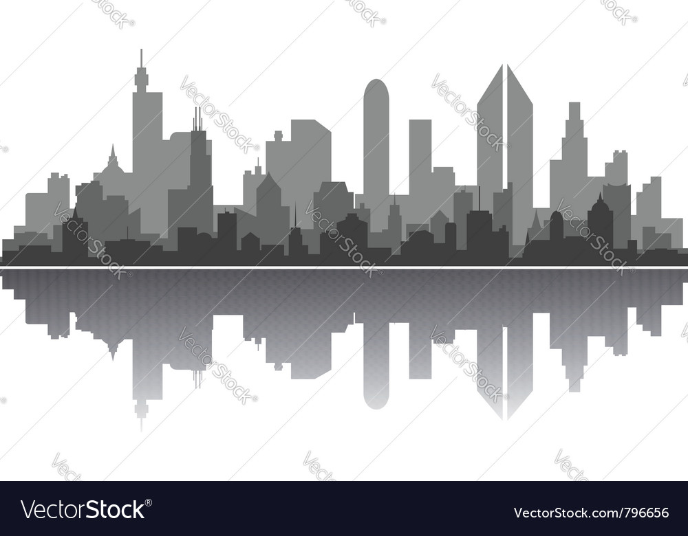 Modern city skyline vector | Price: 1 Credit (USD $1)