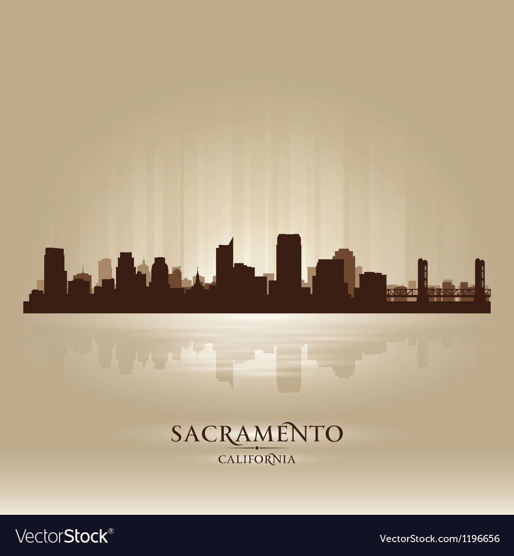 Sacramento california skyline city silhouette vector | Price: 1 Credit (USD $1)