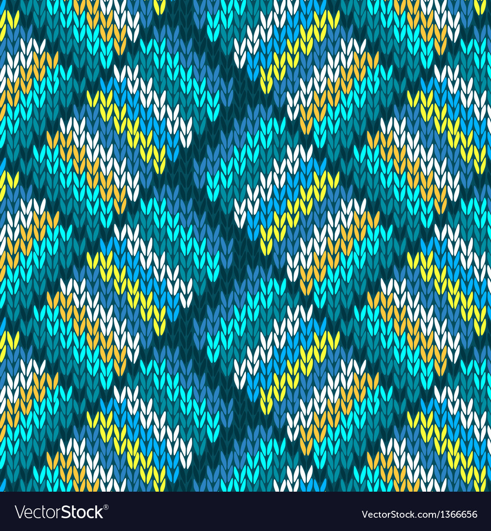 Seamless knitted pattern vector   Price: 1 Credit (USD $1)