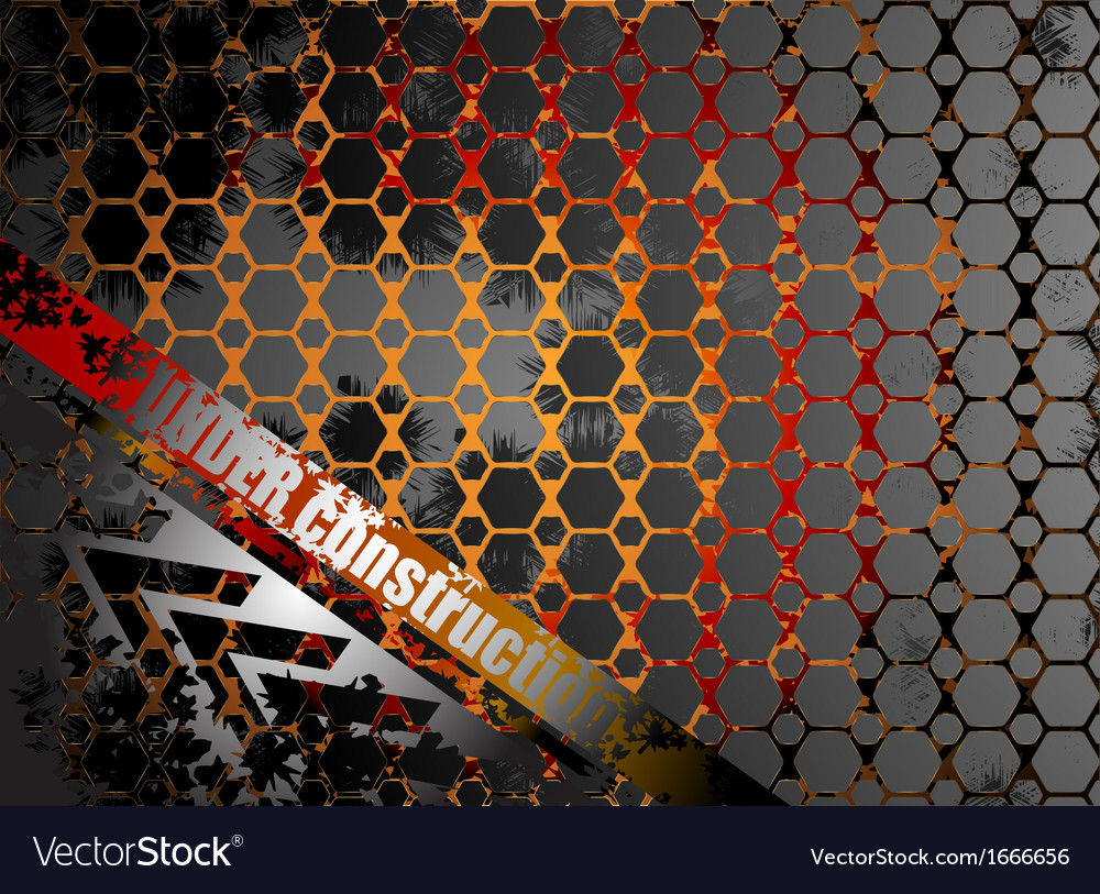 Under construction metallic abstract background vector | Price: 1 Credit (USD $1)