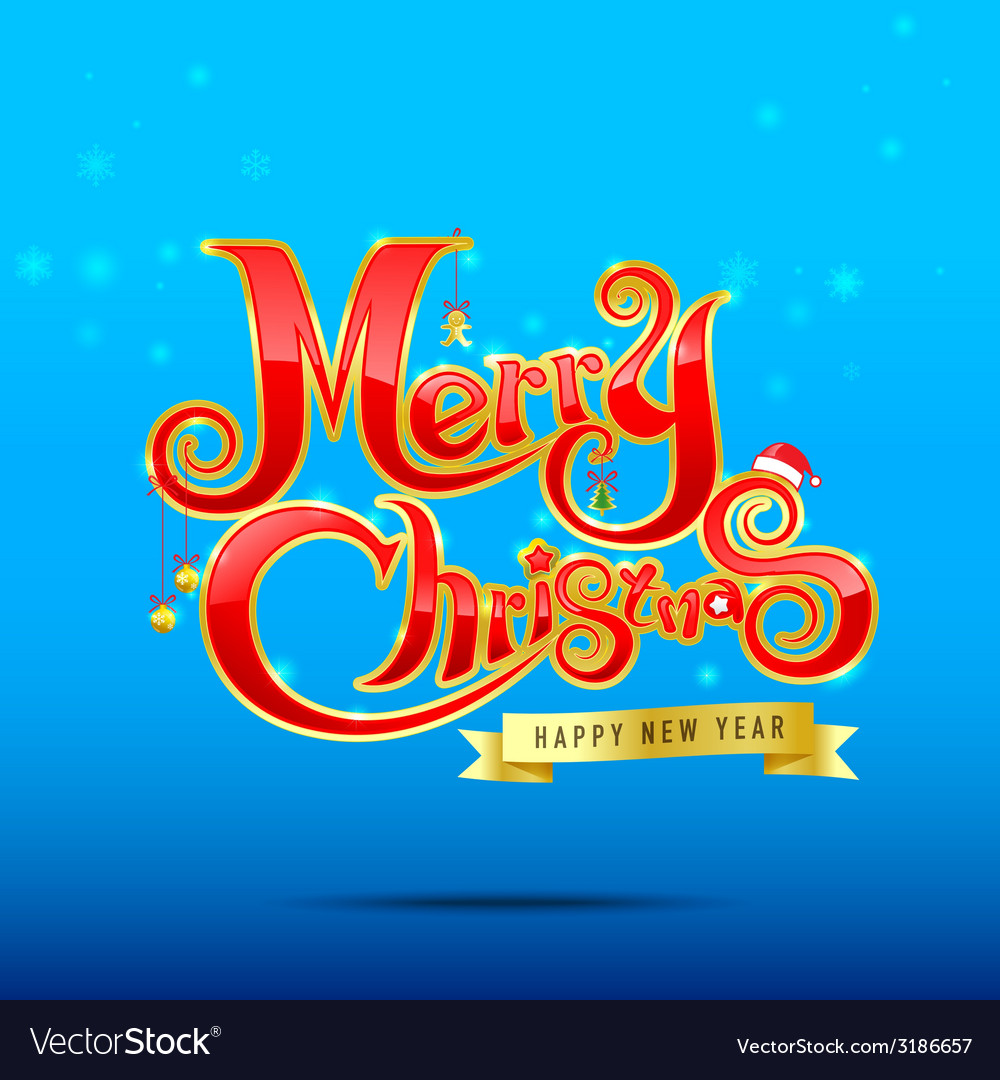012 merry christmas text 002 vector | Price: 1 Credit (USD $1)