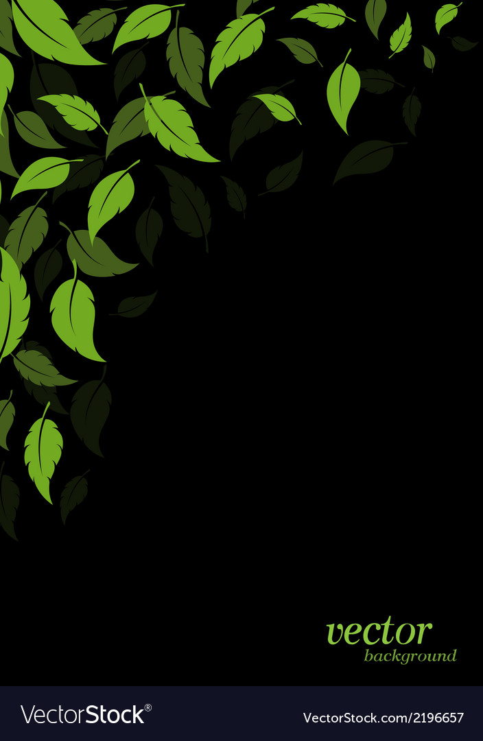 Abstract green leaves background vector | Price: 1 Credit (USD $1)