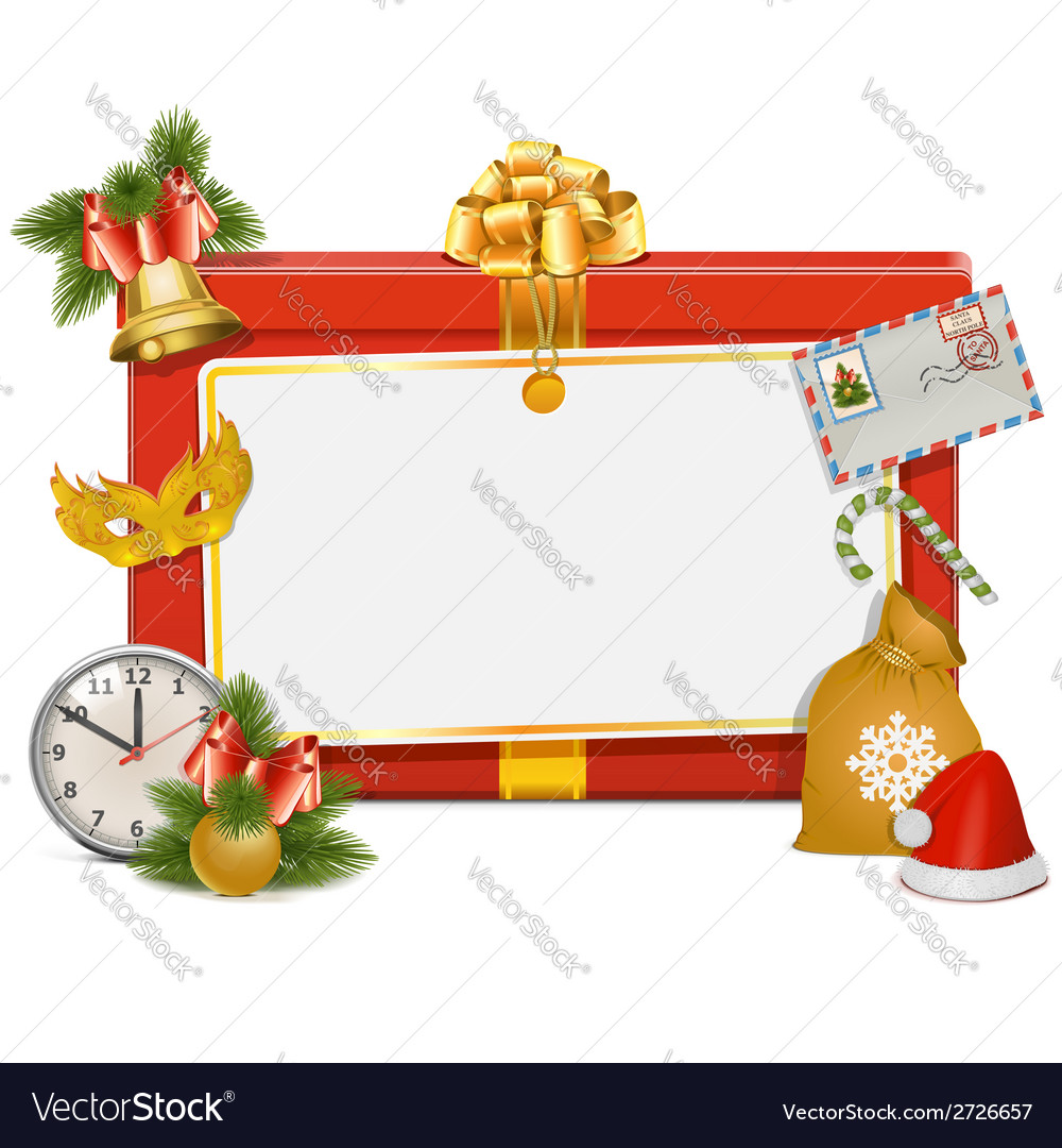 Christmas celebration board vector | Price: 1 Credit (USD $1)