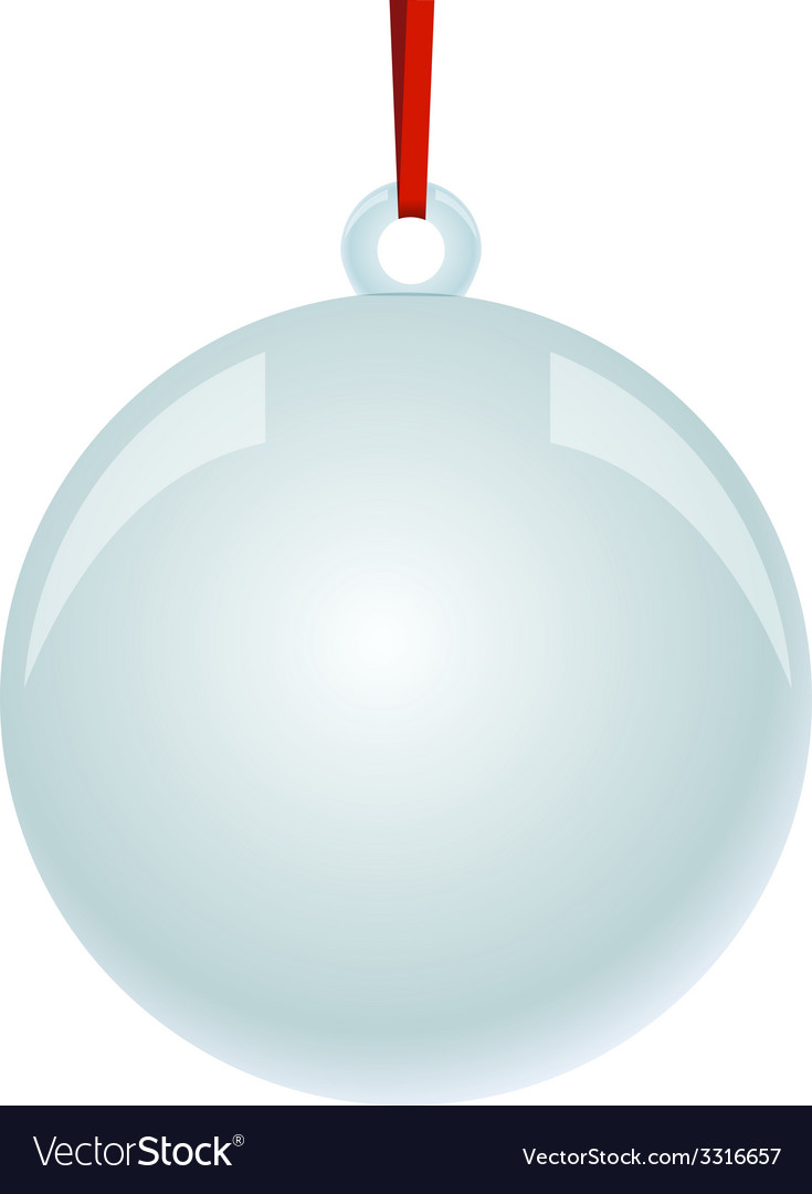 Christmas newyear ball with ribbon hanging vector | Price: 1 Credit (USD $1)