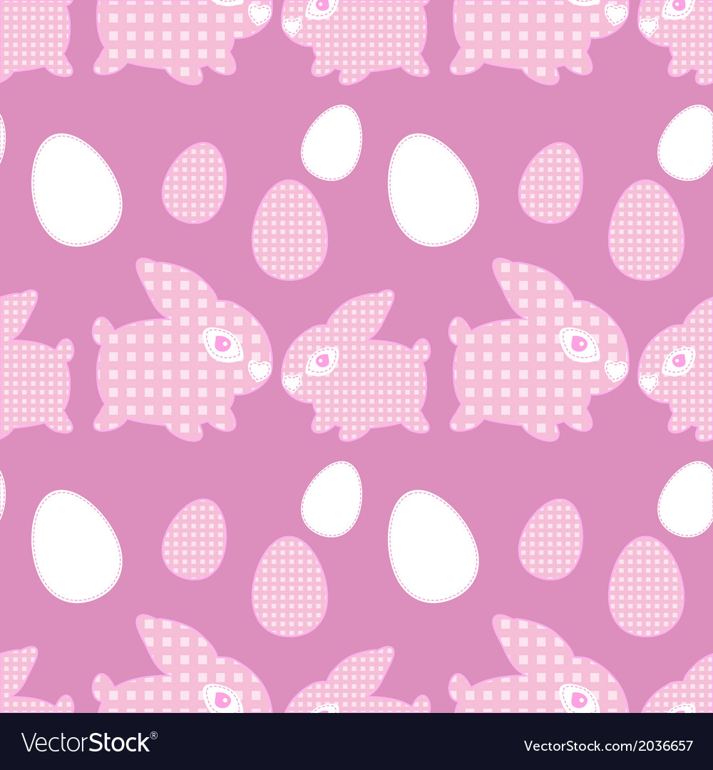 Easter rabbit with eggs seamless pattern vector | Price: 1 Credit (USD $1)