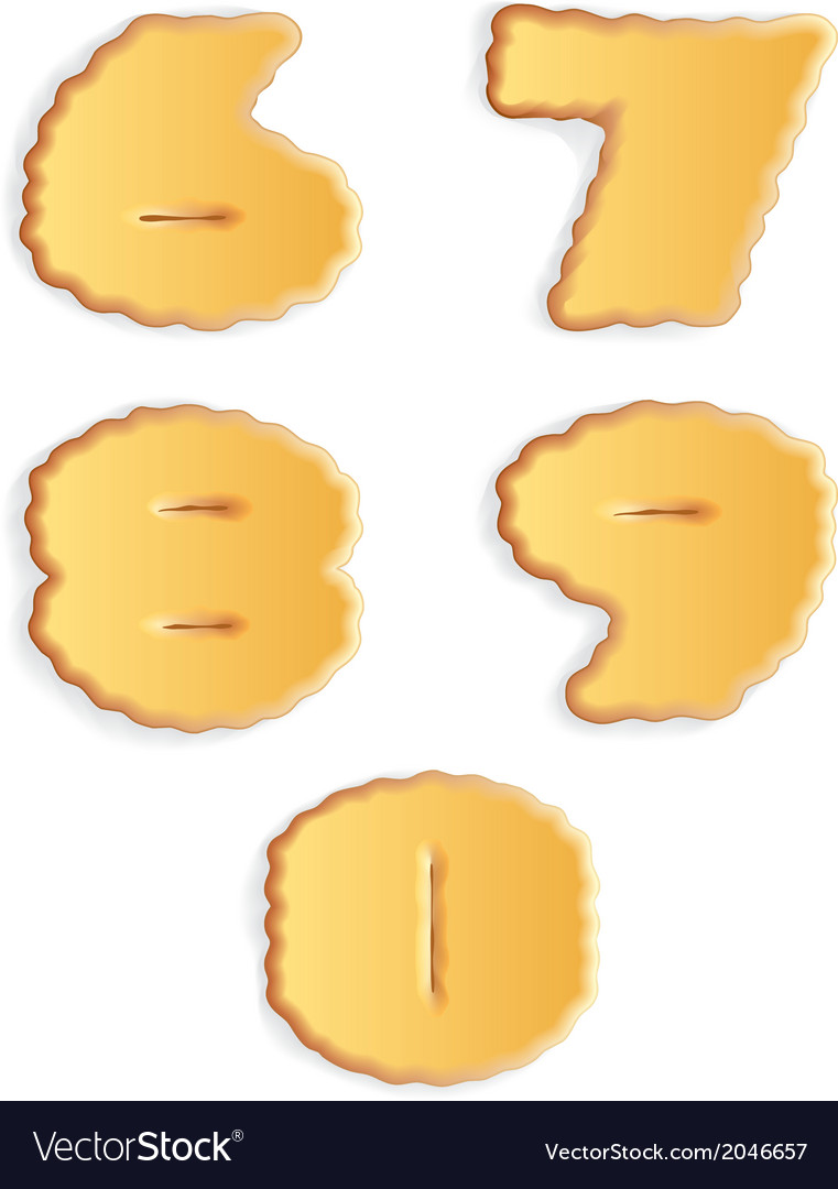 Figures of cracker biscuits vector | Price: 1 Credit (USD $1)