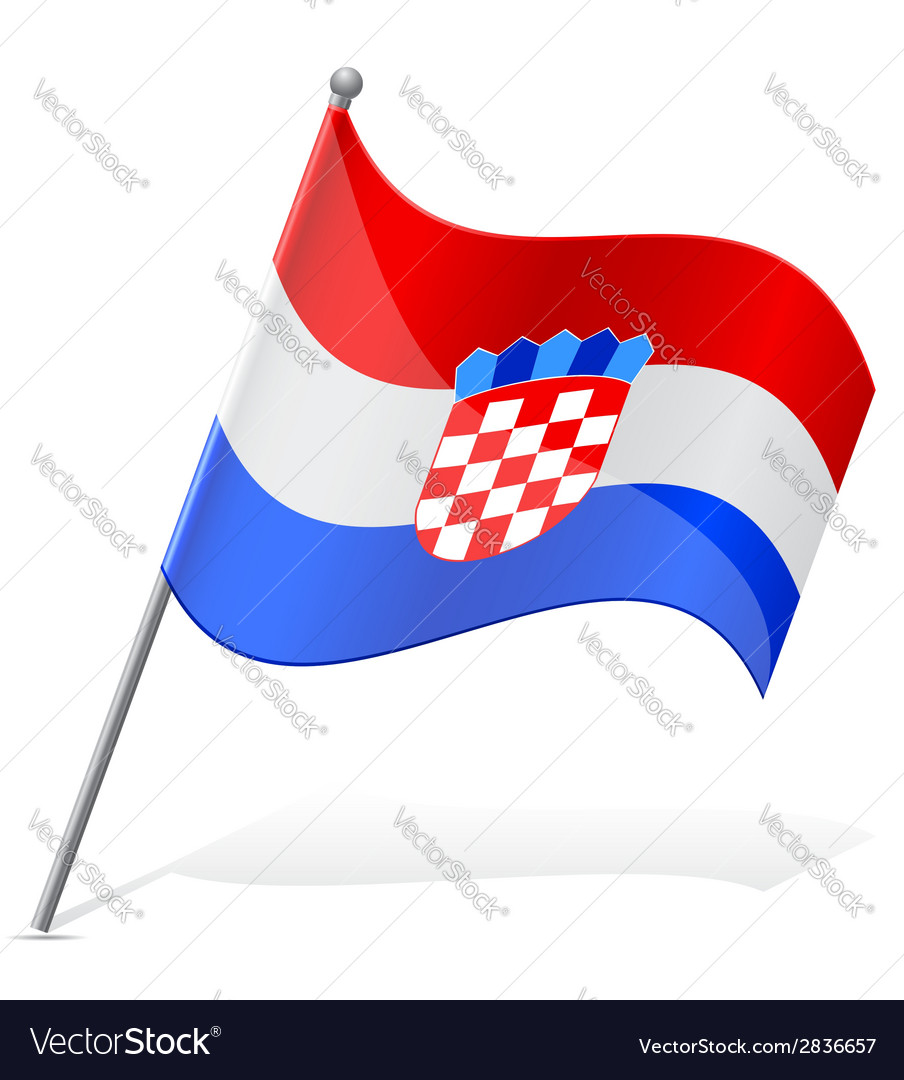 Flag of croatia vector | Price: 1 Credit (USD $1)