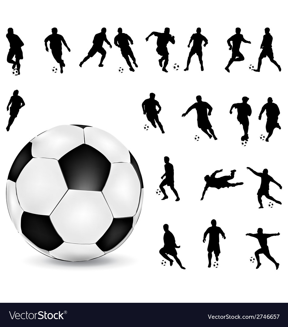 Football players 2 vector | Price: 1 Credit (USD $1)