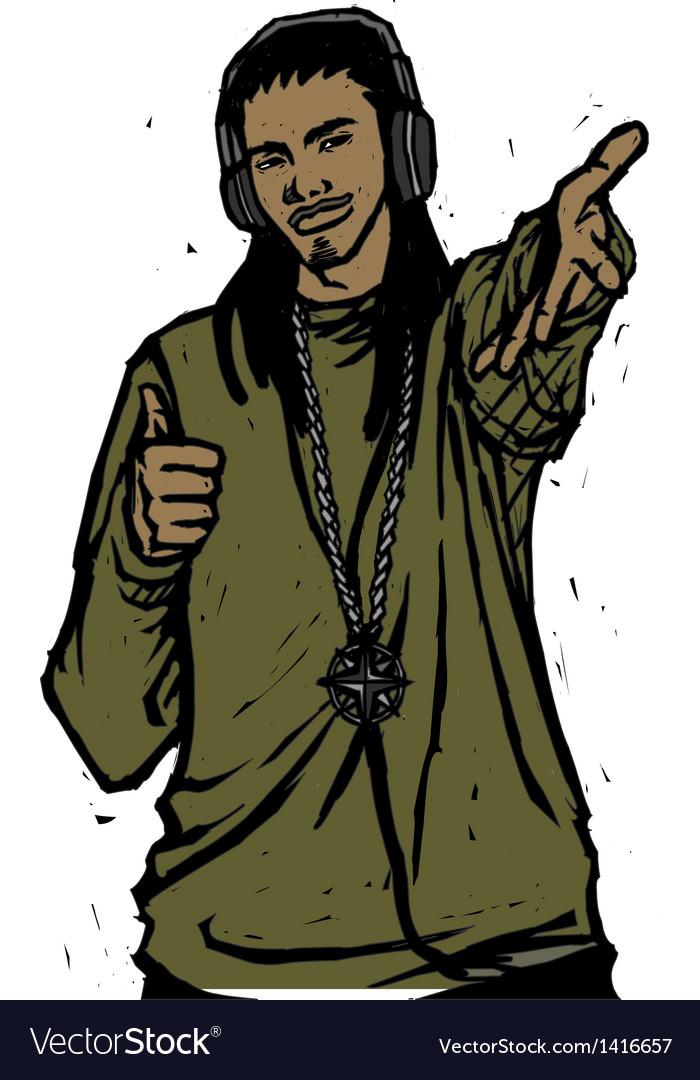 Reggae musician vector | Price: 1 Credit (USD $1)