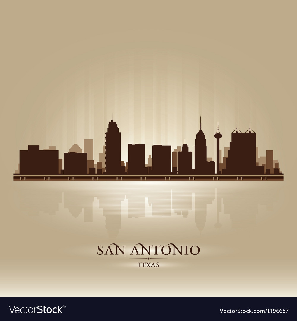 San antonio texas skyline city silhouette vector | Price: 1 Credit (USD $1)