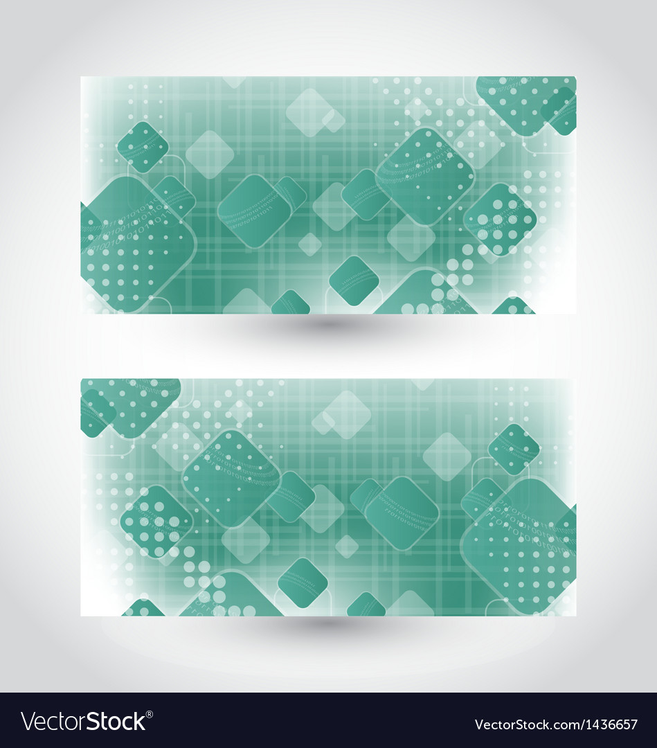 Set cards with abstract squares vector | Price: 1 Credit (USD $1)