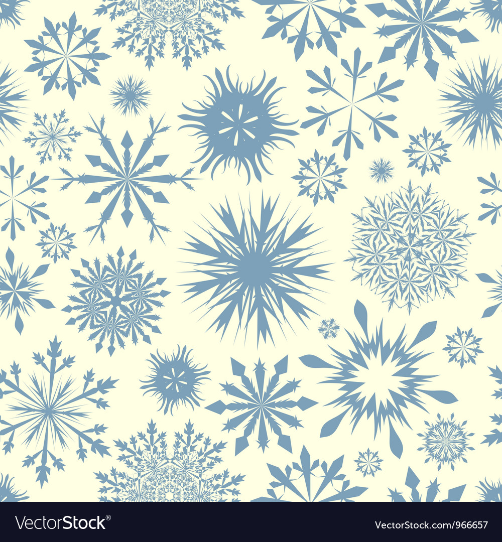 Snowflakes seam vector | Price: 1 Credit (USD $1)