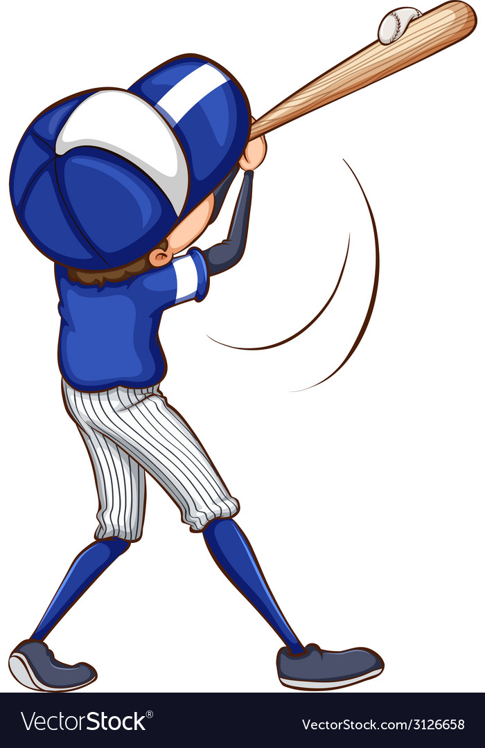 A simple drawing of a baseball player vector | Price: 1 Credit (USD $1)